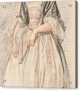A Lady With A Fan Acrylic Print