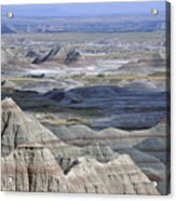 A Landscape Of The Badlands In South Acrylic Print