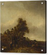 A Landscape With Peasants And A Cart Acrylic Print