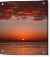 A Layer Of Clouds Is Lit By The Rising Acrylic Print