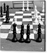 A Life Time Game Of Chess Acrylic Print by Danielle Allard