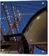 A Lifeboat Named Maria Boston Tall Ships 2017 Lighted Mast Boston Ma Acrylic Print