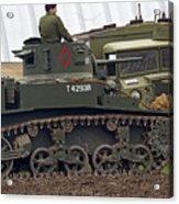 A Little Honey - M3 Stewart Light Tank Acrylic Print