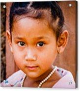 A Little Khmer Beauty Acrylic Print