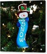 A Long Snow Ornament- Horizontal Acrylic Print