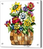 A Lovely Basket Of Flowers Acrylic Print