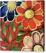 A  Trio Of Flowers Acrylic Print