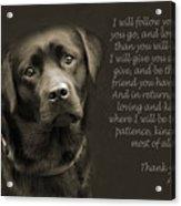 A Loving Dog Acrylic Print