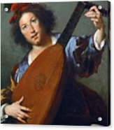 A Lute-player Acrylic Print