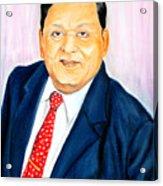 A M Naik Portrait Acrylic Print