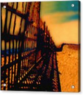 A Mammoth Fence Acrylic Print