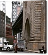 A Man And A Bridge Acrylic Print