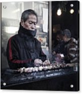A Man And His Grill Acrylic Print
