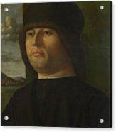 A Man In Black Acrylic Print
