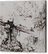 A Man Of Sorrows Acrylic Print by Rachel Christine Nowicki