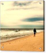 A Man's Serenity - Jersey Shore Acrylic Print