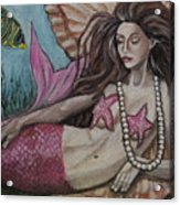 A Mermaid Named Pearl Acrylic Print