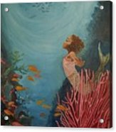 A Mermaid's Journey Acrylic Print