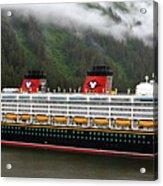 A Mickey Mouse Cruise Ship Acrylic Print