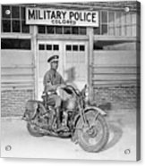 A Military Police Officer Posed Acrylic Print