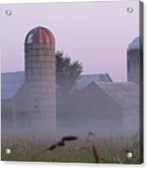 A Misty Evening Farm Acrylic Print