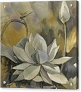 A Moment At The Lotus Pond Acrylic Print