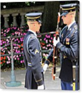 Face To Face During The Changing Of The Guard Acrylic Print