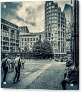 A Moment In Southwark, London. Acrylic Print