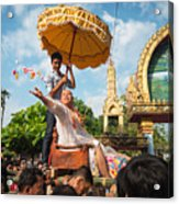 A Monk Ordination Festival Acrylic Print