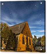 A Moonlit Nightscape Of The Historic Acrylic Print