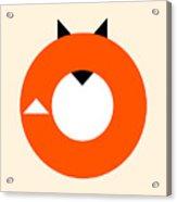 A Most Minimalist Fox Acrylic Print