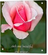 A Mother Is Like A Flower Acrylic Print