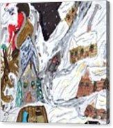 A Mountain Village Acrylic Print