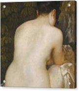 A Naked Woman Seen From Behind Acrylic Print