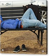 A Nap In The Park Acrylic Print