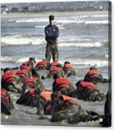 A Navy Seal Instructor Assists Students Acrylic Print