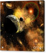 A Nebulous Star System In A Distant Acrylic Print