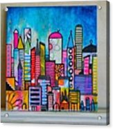 A New 12 X12 #cityscape #collage Acrylic Print