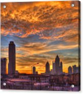 A New Day Atlantic Station Sunrise Acrylic Print
