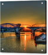 A New Day Chattanooga Sunrise Market Street Bridge Acrylic Print