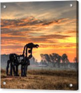 A New Day The Iron Horse Acrylic Print