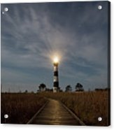 A Night At Bodie Island Lighthouse Acrylic Print