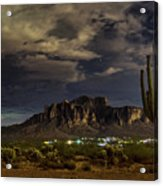 A Night In The Superstitions  Acrylic Print