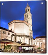 A Night View Of The Cathedral Of Saint Domnius In Split Acrylic Print