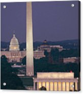 A Night View Of The Lincoln Memorial Acrylic Print