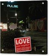A Night Walk In Orlando  Acrylic Print