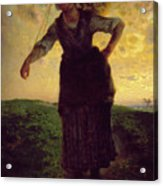 A Norman Milkmaid At Greville Acrylic Print