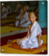 A Novice Monk In Rural Thailand Acrylic Print