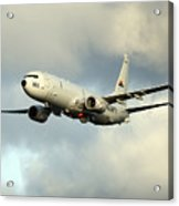 A P-8a Poseidon In Flight Acrylic Print
