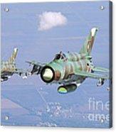 A Pair Of Bulgarian Air Force Mig-21bis Acrylic Print